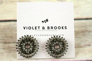 Violet and Brooks mosaic crystal earrings