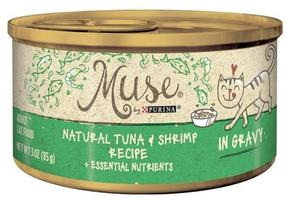 Purina Muse Natural Tuna & Shrimp canned cat food