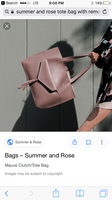 Summer and Rose tote bag with removeable clutch