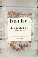 Goodnight Darling bathe. deep detox Bath Soak