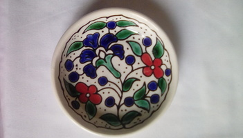 Hand Painted Ceramic Mini Ring Dish/Bowl