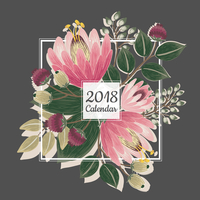 Lulu's Jewels 2018 Garden Flowers Card Calendar