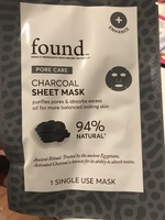 found Charcoal Sheet Mask