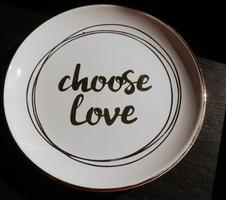 Choose Love Ring Trinket Dish