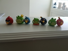 angry birds mini erasers