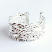 Braided Statment Ring (Silver)