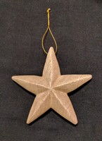 Handcrafted Wood Star Ornament