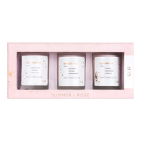 Summer and Rose Candle Trio
