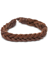 Bedford and Broome Braided Leather Bracelet