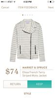 Stitch fix market & spruce Moto jacket