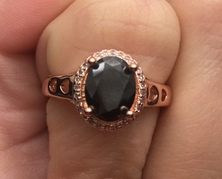 Black Swarovski Crystal Ring