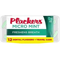 Plackers Dental Flossers + Travel Case