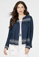 Embroidered Tassel Jacket