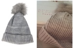Hat Attack Ribbed Hat With Faux Fur Pom