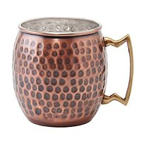 Old Dutch Nickel-Lined Antique Copper Hammered Moscow Mule Mug
