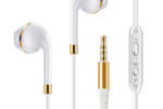 Ace Of Spades Earphones White & Gold