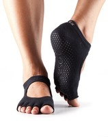Half Toe Bella Grip Socks in Black