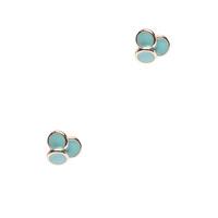 Geranium turquoise 3 circle earrings