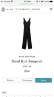 Nine Britton maud knit jumpsuit size medium