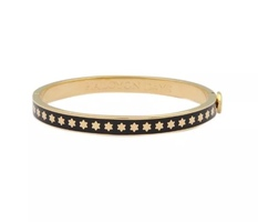 Halcyon Days Skinny Black Bangle Star