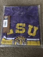 Men's LSU Retro Purple T-Shirt, Size Large