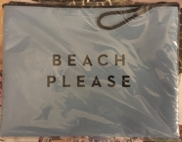 "MILLY ""BEACH PLEASE"" Zip Pouch"
