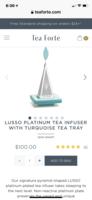 Tea Forté Lusso Platinum Tea Infuser