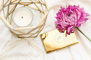 Glass Ladder & Co Gold Plated Card Holder