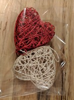 Handmade Mini Heart Basket Ornaments