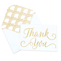 bloom planners Gold Foil Thank You Card set