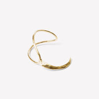 Odette New York Brass Split Ridge Cuff