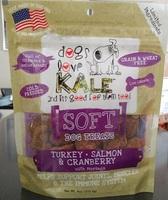 Dogs Love Kale Turkey Salmon & Cranberry Soft Dog Treats