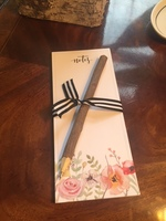 Floral Notepad with Natural Wooden Twig Pen