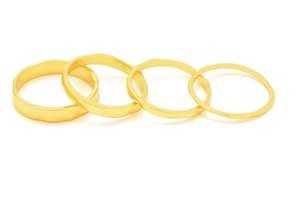 Set of 4 Gorjana Rings