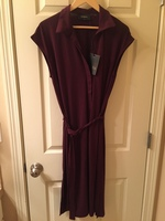 Storia Sleeveless Burgundy Dress