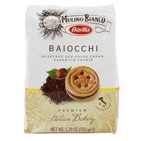 Barilla Baiocchi Hazelnut and Cocoa Creme Sandwich Cookies