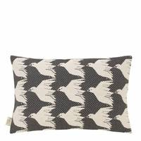 Cover me up - Cushion Cover - Birdie nam nam / Black