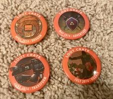 April-July 2014 loot crate pins