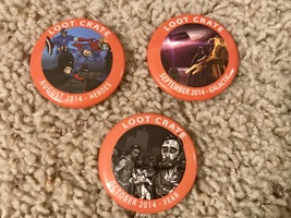 August-Oct 2014 loot crate pins