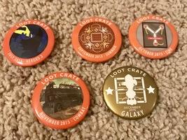 2015 set of 5 loot crate pins