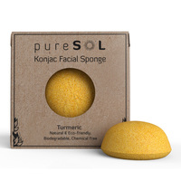 pureSOL Konjac Facial Sponge - Tumeric