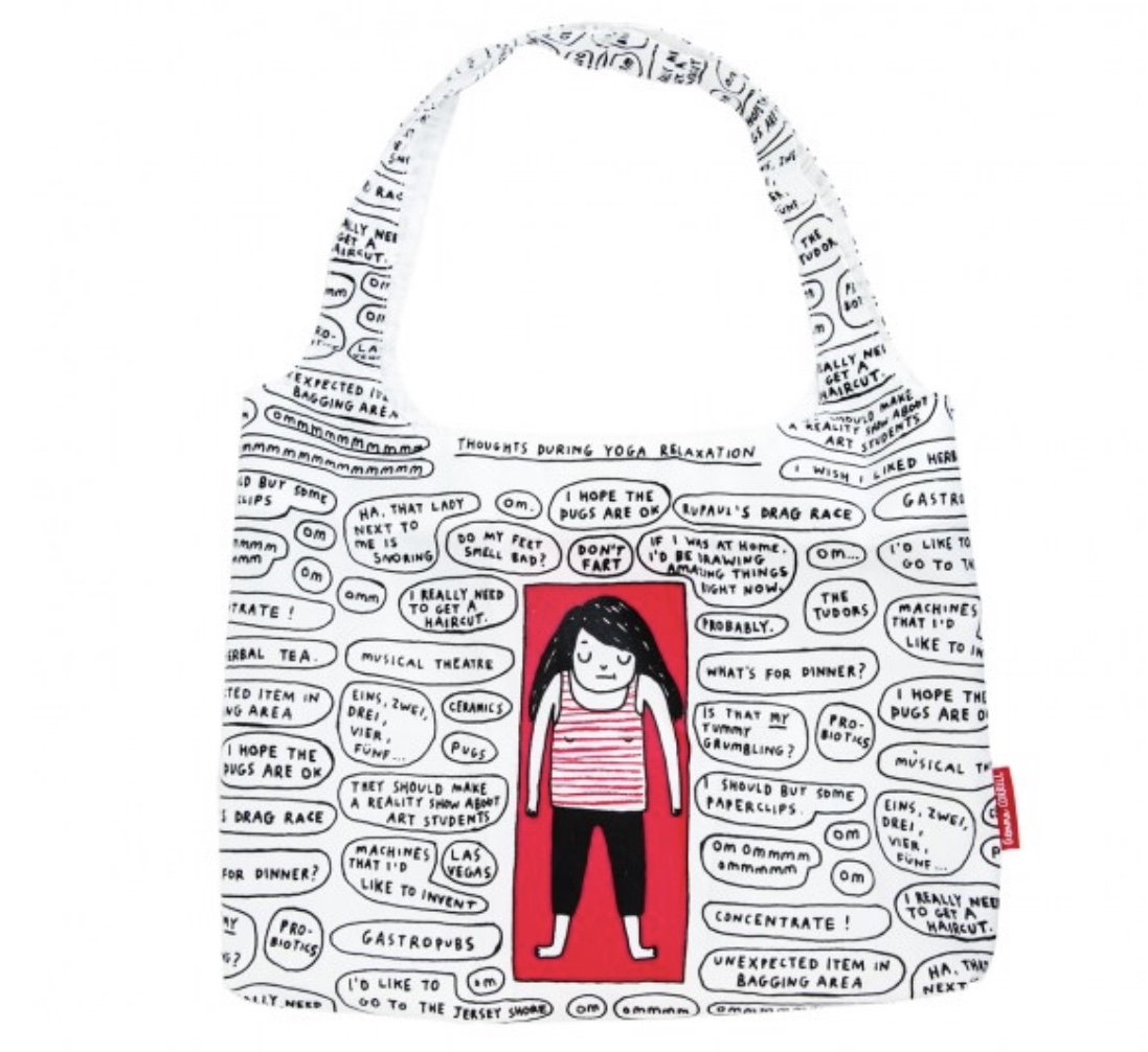 Yoga shopping bag (Gemma Correll)