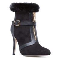"SHOEDAZZLE ""Shene"" Fur Cuff Shooties"
