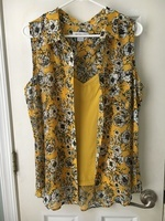 Goldenrod Flowers Sleeveless Top