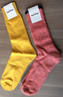 Midas Luxe gold socks (shown left)