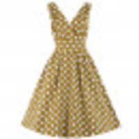 Mustard Polka Dot Swing Dress