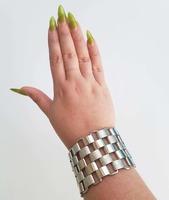 Silver Frost Link Bracelet