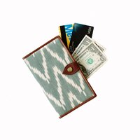 IKAT WALLET - GREEN & LEATHER
