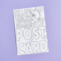Madam Mim Coloring Book Postcard