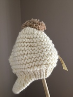 Collection 18 Knitted Ivory Hat